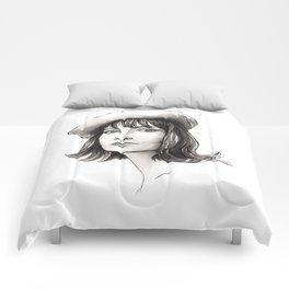 vintage girl Comforters