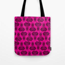 Power Tiki Girl - Hibiscus - Hot Pink Tote Bag
