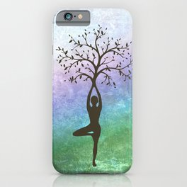 Yoga Tree Pose iPhone Case