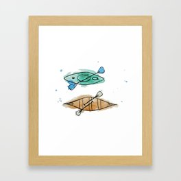 Kayaks Framed Art Print