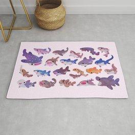 Shark day - pastel Rug