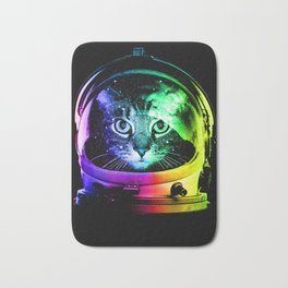 Astronaut Cat Bath Mat