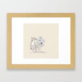 Floral Fox 2 Framed Art Print