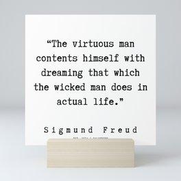 23  |   Sigmund Freud Quotes | 190926 Mini Art Print