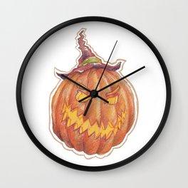 Halloween - scary pumpkin head Wall Clock