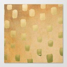 Golden Splotch Haze Canvas Print