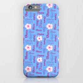 Ohana Family Plumeria Flowers Garden Love  iPhone Case