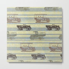 Vintage Truck Pattern Metal Print