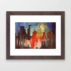 Urban Full Moon Framed Art Print