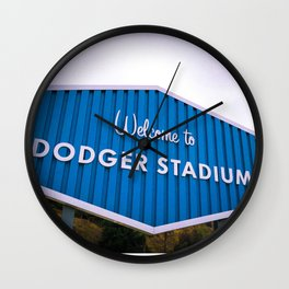 Welcome to Dodger Stadium | Los Angeles California Nostalgic Iconic Sign Sunset Art Print Tapestry Wall Clock