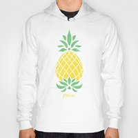 pineapple Hoodies featuring Pineapple by Jacqueline Maldonado
