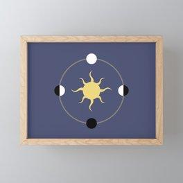 Equinox and Solstice Framed Mini Art Print