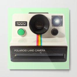 Polaroids Land Camera 1000 Metal Print