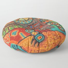 Shaman Dance: Day and Night Floor Pillow