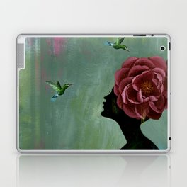 flowery lady Laptop & iPad Skin