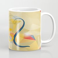 new year Mugs featuring new year by luiza13