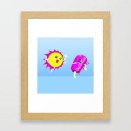 Sun Hug Ice Cream Scream Framed Art Print