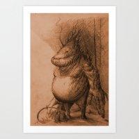 groot Art Prints featuring Groot by Henrik Rosenborg