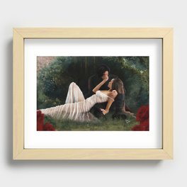 The Woods Are Lovely, Dark and Deep Recessed Framed Print