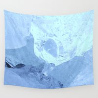 ice Wall Tapestries featuring Ice by ErikMcManusInc.