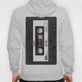 Cassette Tape Black And White #decor #society6 #buyart Hoody