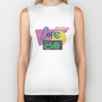 80s Biker Tanks featuring Cafe 80s by Loku