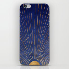 Twilight / Blue and Metallic Gold Palette iPhone Skin