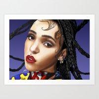 fka twigs Art Prints featuring FKA Twigs by ☿ cactei ☿