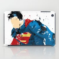 man of steel iPad Cases featuring Man of Steel by ALmighty1080