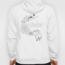 Winter dreams (line art) Hoody