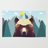 mountain Area & Throw Rugs featuring Bear Mountain  by Davies Babies