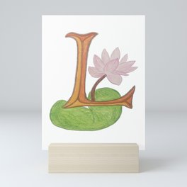 L is for Lotus Mini Art Print