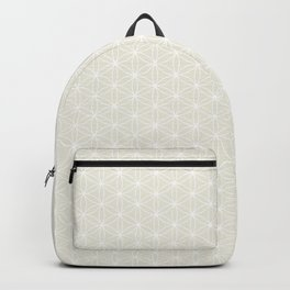 Flower of Life Print - White/Cream Backpack