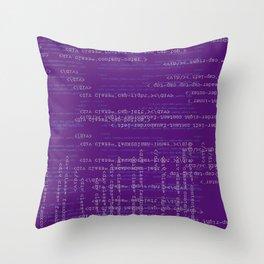 Code Purple Throw Pillow