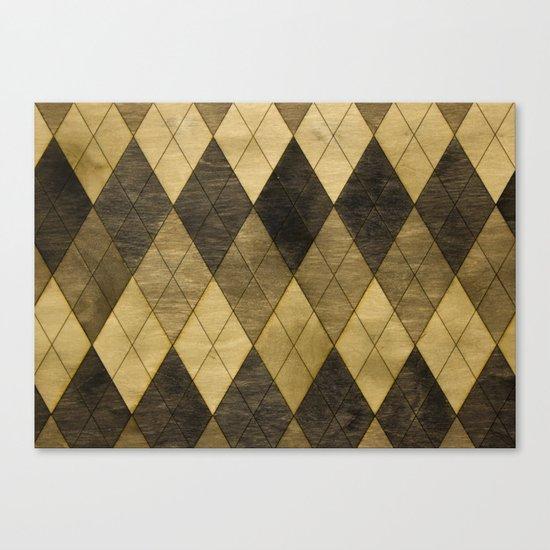 Wooden big diamond Canvas Print