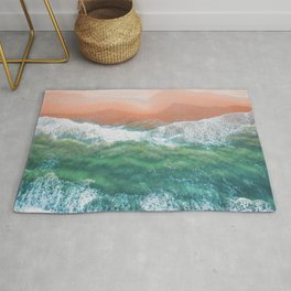 Beautiful Coastline Beach  Rug