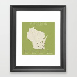 Wisconsin Golf Courses Framed Art Print