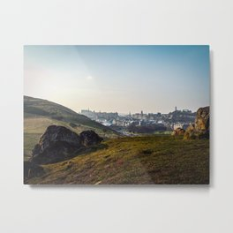 Edinburgh Skyline Metal Print