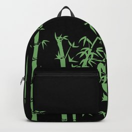 Bamboo design green - black Backpack