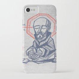 Saint Ignatius of Loyola hand drawn illustration iPhone Case