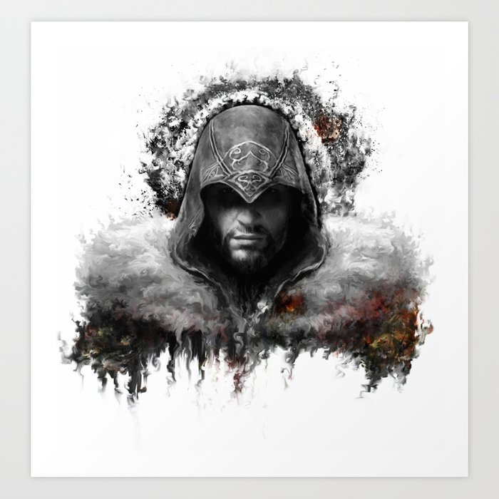 Assassins Creed Ezio Auditore Art Print By Ururuty Society6