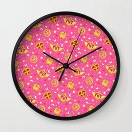 Sailor Moon Brooches Pattern - Pink / Sailor Moon Wall Clock