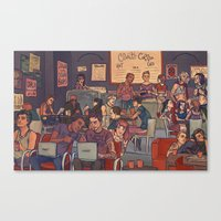 cargline Canvas Prints featuring Clint's Coffee by cargline