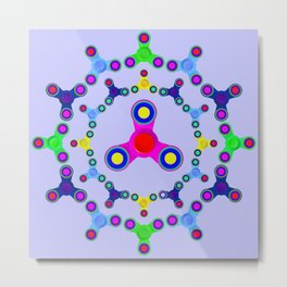 Fidget Spinner design version 2 Metal Print