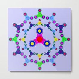 Fidget Spinner design version 2 Metal Print