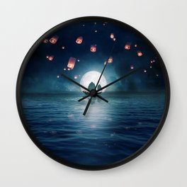 Travel through the Lights Wall Clock