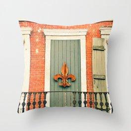 French Quarter Color, No. 5 Throw Pillow