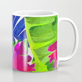 Colorful tropical leaves Coffee Mug
