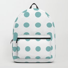 Chalky Blue Polka Dots Backpack