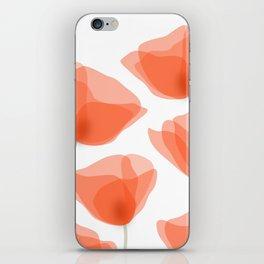 poppies iPhone Skin